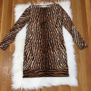 Michael Kors Tiger Print Bodycon Dress.